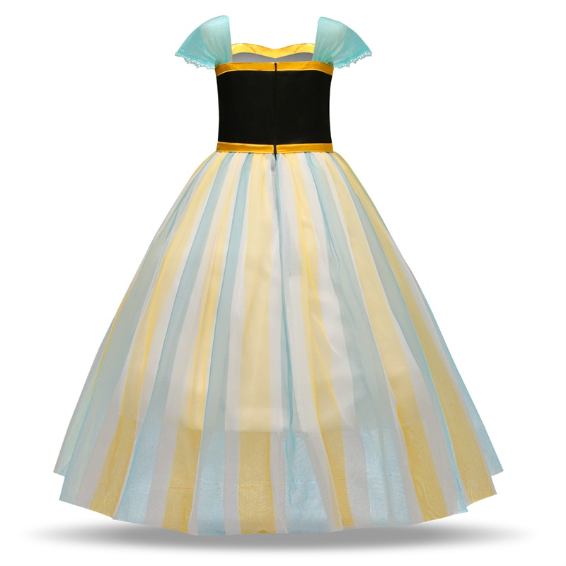 Hb260c51faaf540289e4f143f19ed7123J Girls Elsa Dress Costume Princess Anna Dresses Cosplay Party Summer Baby Kids Children Fancy Baby Girl Clothes elza vestidos