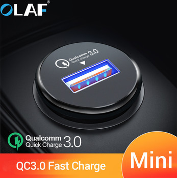 OLAF USB Car Charger mi ni USB Quick Charge 3.0 Car Charger for iPhone Samsung Xiaomi mi QC3.0 QC Phone Fast Mobile Car Charging