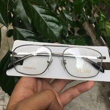 Klasik dikdörtgen gözlük titanium gözlük çerçeveleri erkekler ve kadınlar için altın/gümüş/siyah/gri