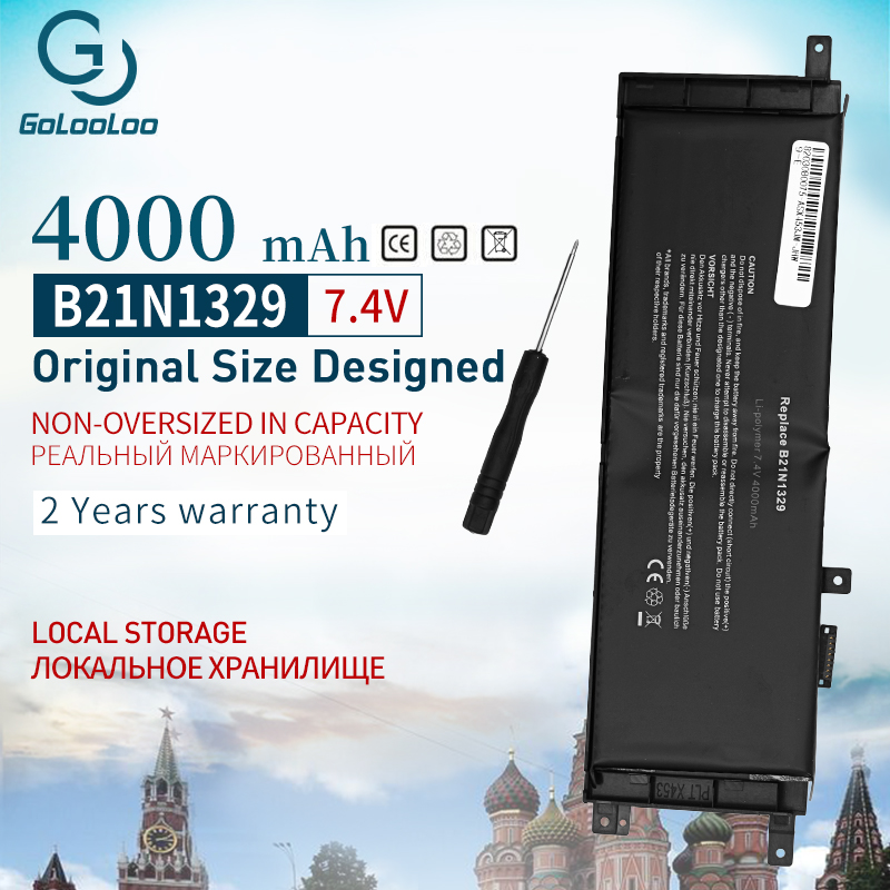 Golooloo B21N1329 Laptop Battery For ASUS D553M F453 F453MA F553M P553 P553MA X453 X453MA X553 X553M X553B X553MA X403M X503M