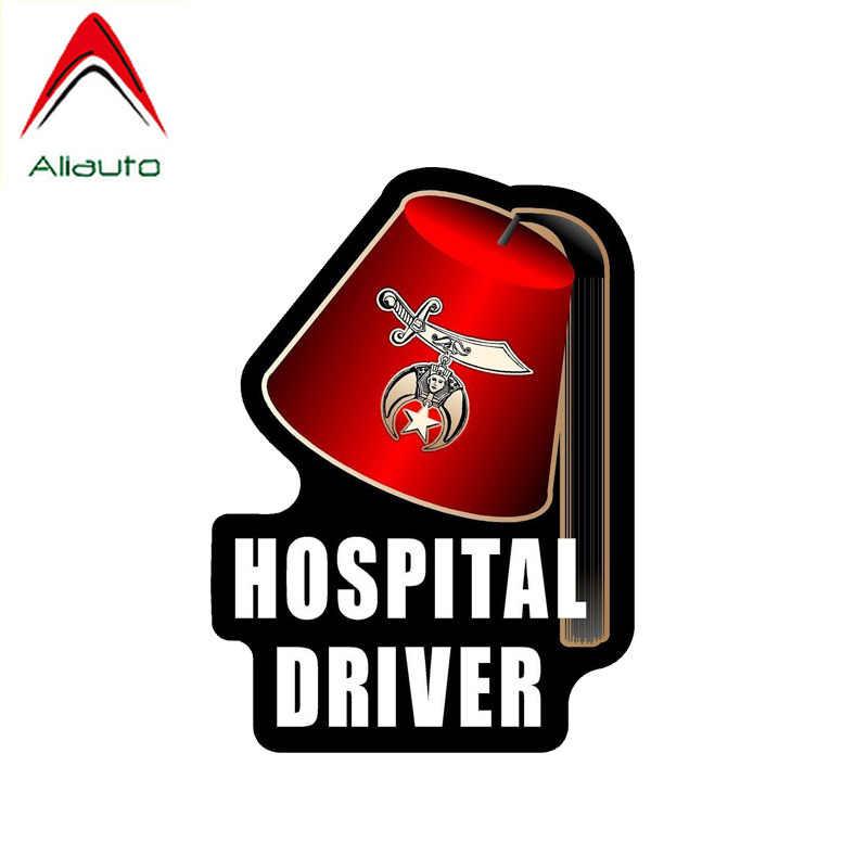 Aliauto 人格車のステッカー病院ドライバ面白いアクセサリー Pvc デカールオペルアストラ J のための起亜リオ 3 マスタング、 14 センチメートル * 10 センチメートル