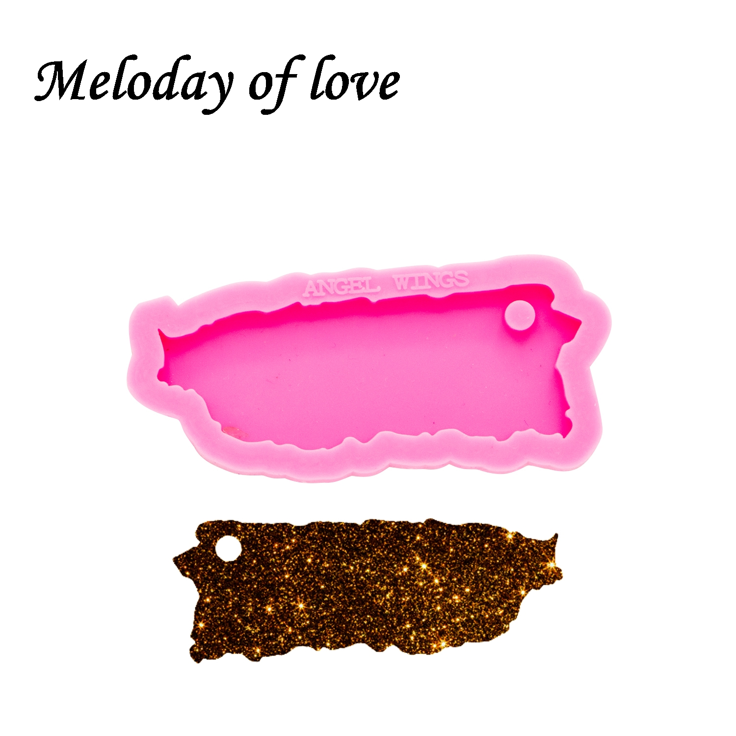 Shiny Glossy Puerto Rico Silicone Mold Diy State Map Epoxy Resin Molds Jewelry Making Custom Mould Keychain DY0266