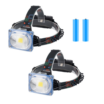 COB LED Wide Area Lighting Headlights 10W 3 Modes Headlamp Portable Waterproof Flashlight for Outdoor Camping Fishing