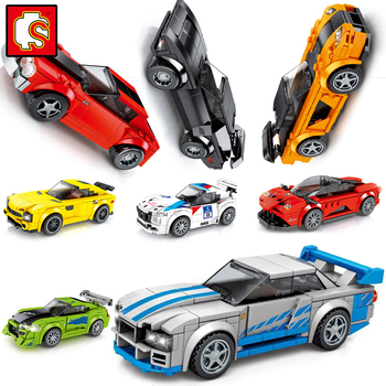 sembo Blocks City Super Racer car F1 Speed Champions Racing model Building  sports Kits sets 1