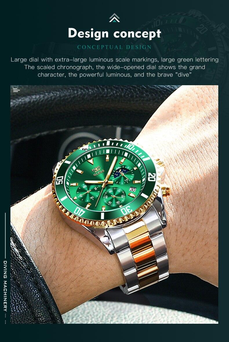 OLEVS 2870 Waterproof Stainless Steel Casual Watch 10
