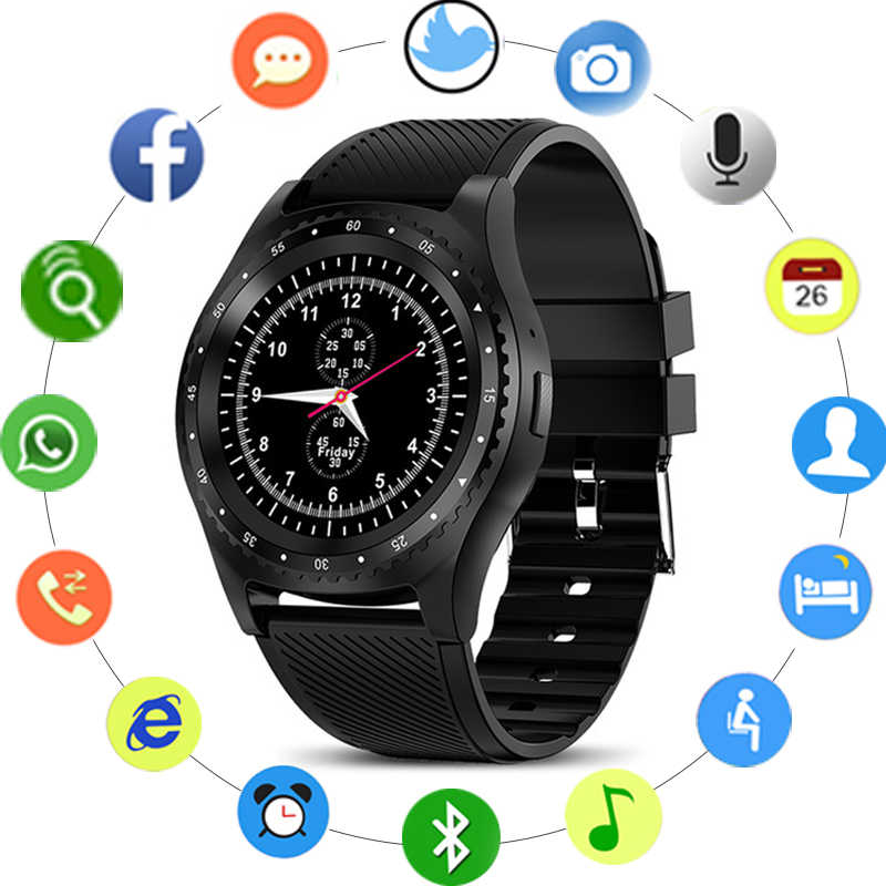 GEJIAN New Smart Watches Men Women Touch Screen Bluetooth IP67 Waterproof Sport Smartwatch Fitness Monitor With SIM Card Support