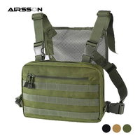 전술 가슴 가방 몰리 군사 전투 프론트 팩 조끼 힙합 배낭 분리형 스트랩 지퍼 포켓 야외 사냥 가방