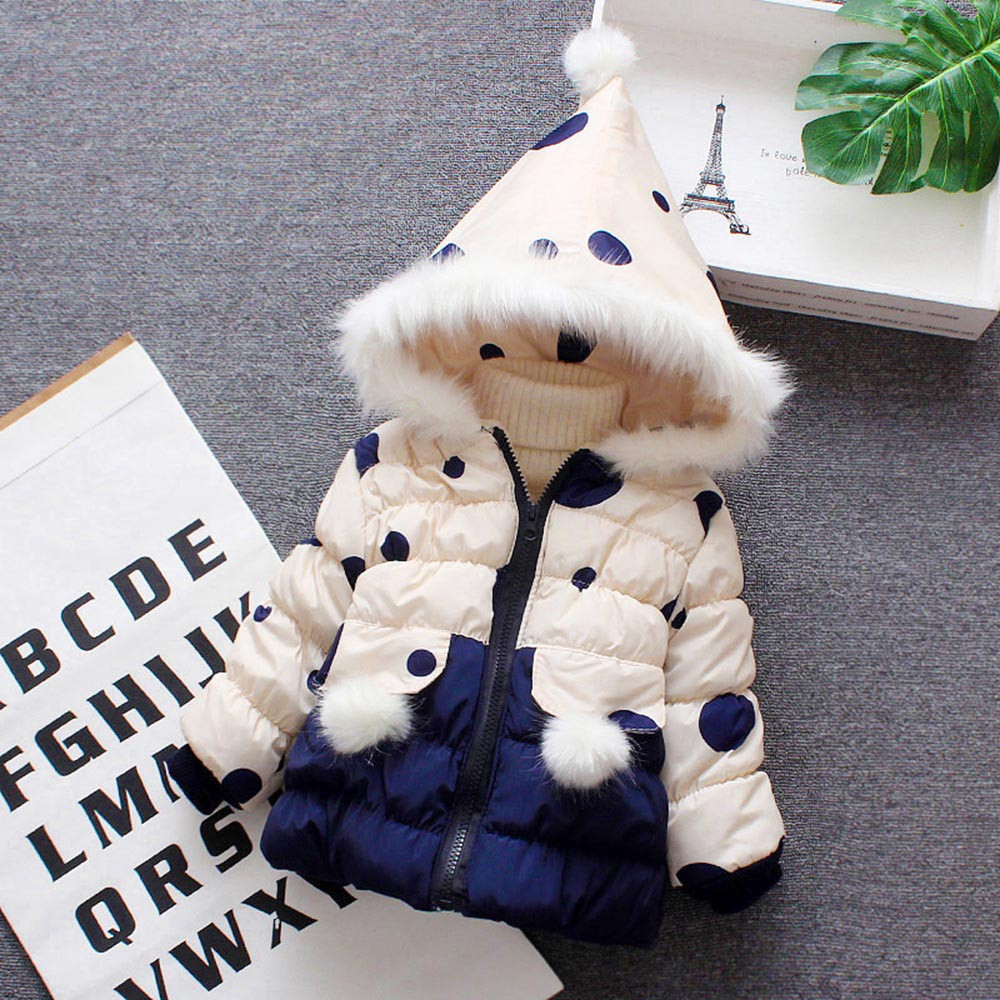 Toddler Baby Infant Cute Cartoon Hooded Zip Coat Cloak Jacket Thick Warm Clothes