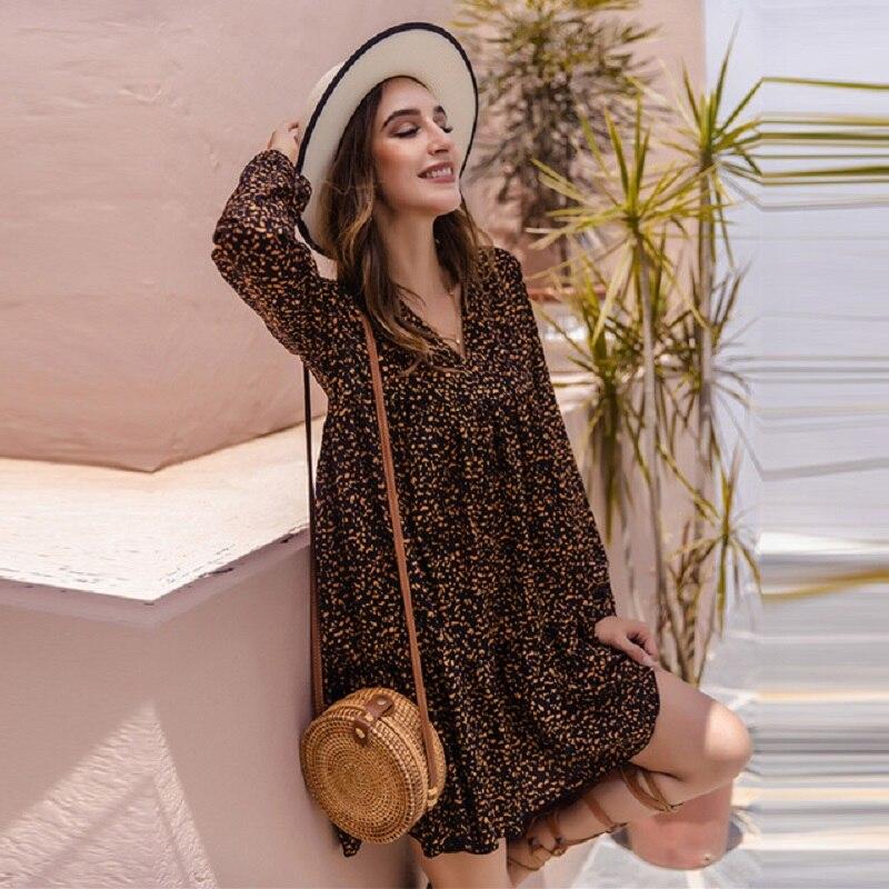 Новая женская обувь в винтажном стиле; Сезон весна-осень, в горошек, с принтом мини-платье для женщин пикантные оборками короткий V образным ...