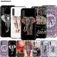 Webbedepp India elefante Animal tótem caso para Samsung Galaxy S7 S8 S9 S10 Plus borde Nota 10 8 9 A10 A20 A30 A40 A50 A60 A70(China)