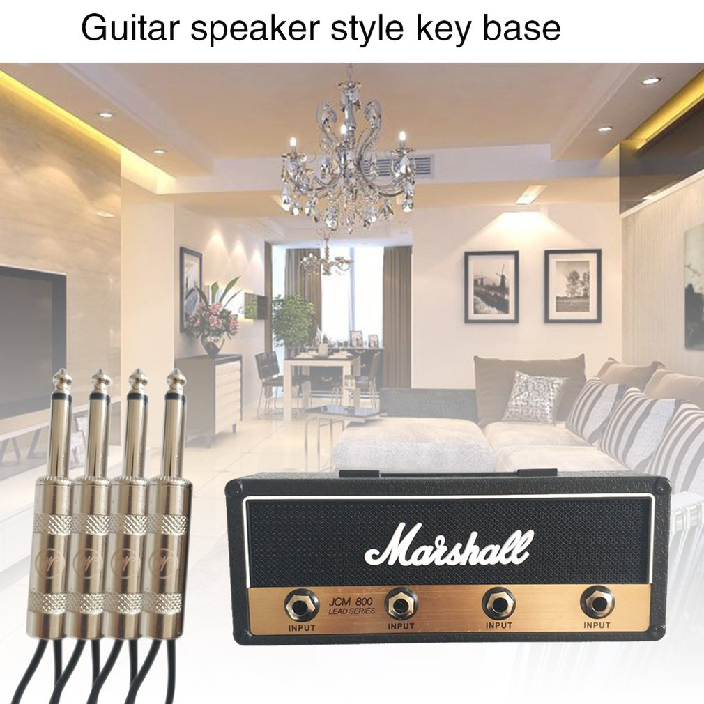 Perfect For Guitar Enthusiasts Musicians Or Music Lovers Easy To Install Guitar Speaker Style Key Base Keychain Key Storage
