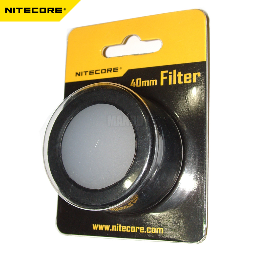 wholesale NITECORE Flashlight Head 40mm Accessories NFR40 NFG40 NFB40 NFD40 RGB Torch Filter Diffused Mineral Coated Glass Lens
