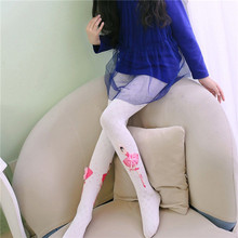 Children Tights 2019 New Lovely Girls Casual Cotton White Black Pink Colors Slim Size S-L