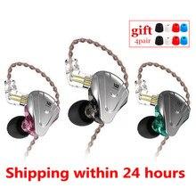 KZ ZSX 5BA+1DD Hybrid In ear Earphones HIFI Metal Headset Music Sport KZ ZAX ZS10 PRO AS16 AS10 ZSN PRO CA16 C12 BA8 V90 VX P1
