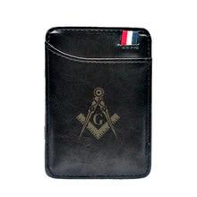 Wallets Money-Clips Card-Purse Cash-Holder Small Masonic Classic Thin Magic Men High-Quality