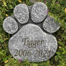 Полимерный памятный камень в форме лапы большой собаки для сада