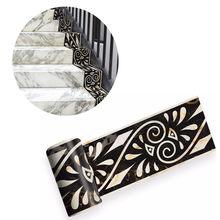 Autocollant mural 3d marbre auto-adhésif 2m, motif grec, bordure d'escalier, carrelage, cuisine, salle de bains, bassin, plinthe