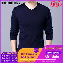 COODRONY Brand Sweater Men Knitwear Pull Homme Streetwear Classic Casual V Neck Pullover Men Autumn Winter Woolen Sweaters 91054Pullovers