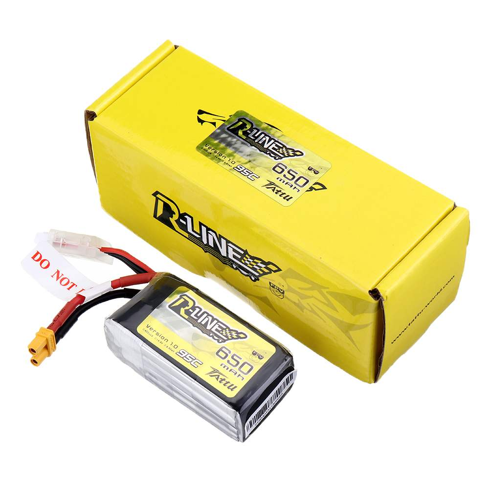 Gens Ace Tattu R-Line 1.0 LiPo Rechargeable Battery 650/750/<font><b>850mah</b></font> 95C <font><b>3S</b></font> 4S 6S1P for RC FPV Racing Drone Quadcopter image