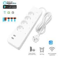 Smart Home wtyczka wi-fi przedłużacz czasowy 4EU wtyczka zasilania 2 USB charge 5V 3.1A niezależne sterowanie rozrządu gniazdo Euro