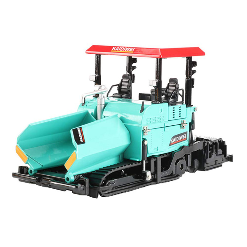 Alloy Diecast Paver Machine Paving Asphalt Highway Construction Truck 1:40 Engineering Vehicle Model Decoration Kid Toys
