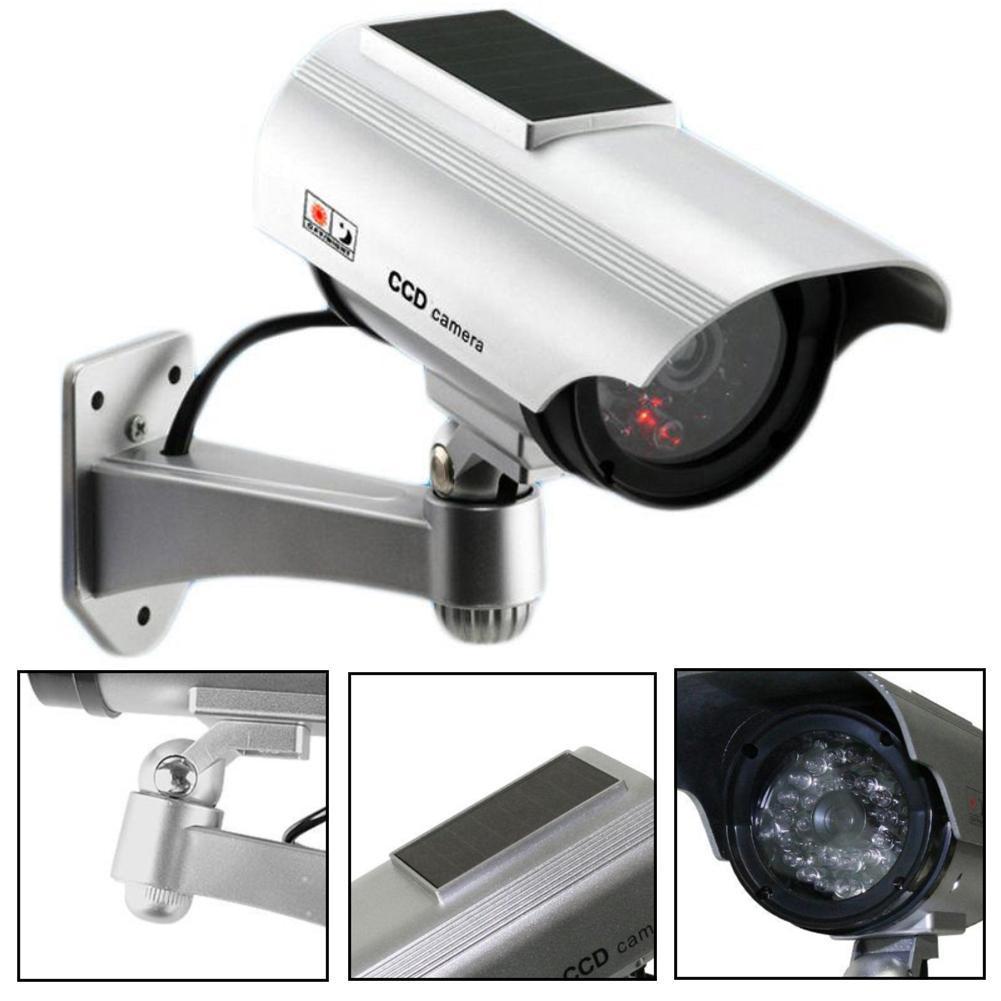 LED Solar Power Fake Camera Outdoor Security CCTV Surveillance Dummy Camera