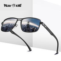 Polarking бренд 2020 Модные солнцезащитные очки мужские Поляризованные квадратные металлические оправы мужские солнцезащитные очки для вождени...