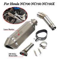 Para Honda NC700 NC750 NC750X silenciador de Escape de motocicleta modificado con interruptor de Escape de Moto