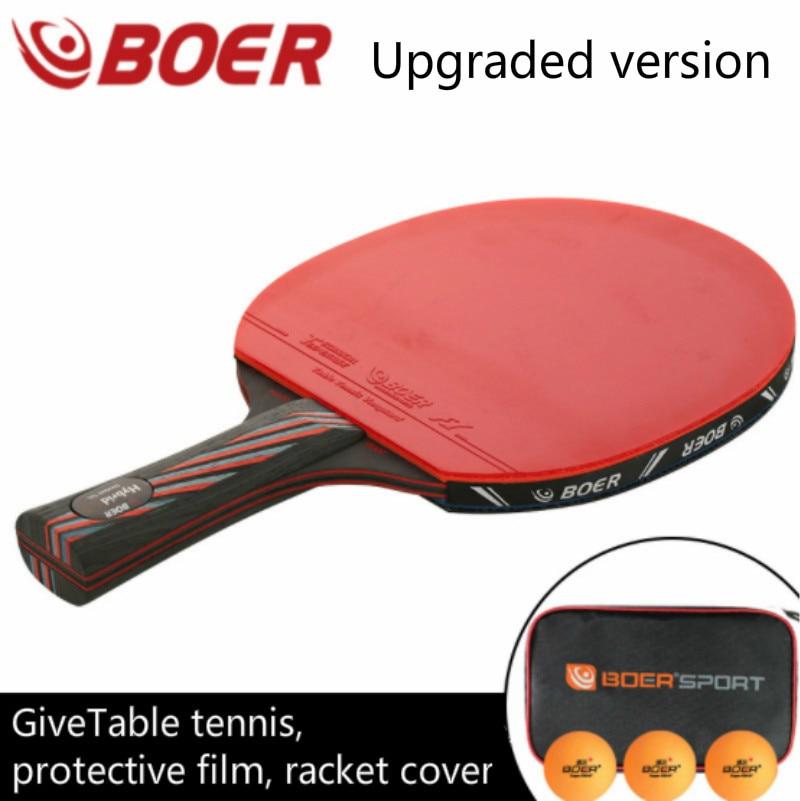 Boer S6 Table Tennis Racket Bat Racket In Long/Short Handle Bat  Ping Pong Racket Paddle