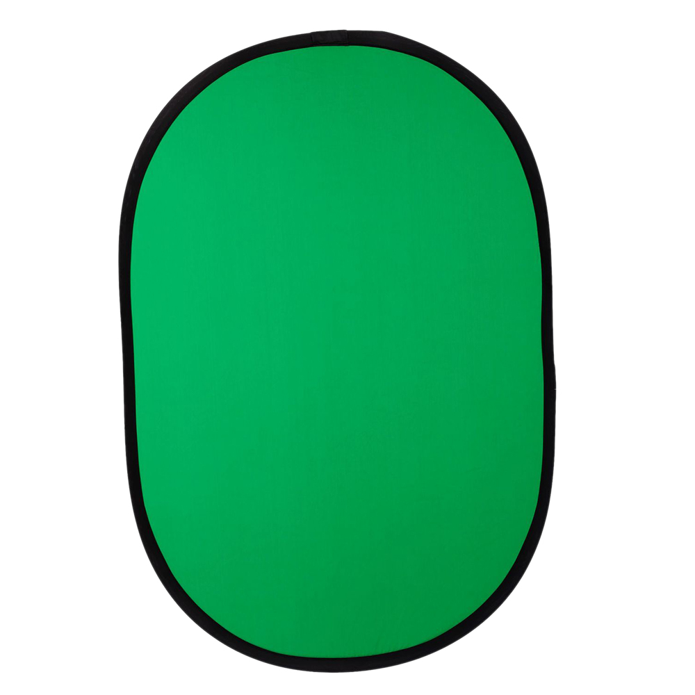 100cmX150cm Collapsible Nylon Oval Reflector 2 in 1 Blue   Green Background Board Folding Backdrops