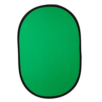 100 cm x 150 cm sulankstomas nailoninis ovalus reflektorius 2 in 1 mėlynos + žalios spalvos lentos sulankstomi fonai