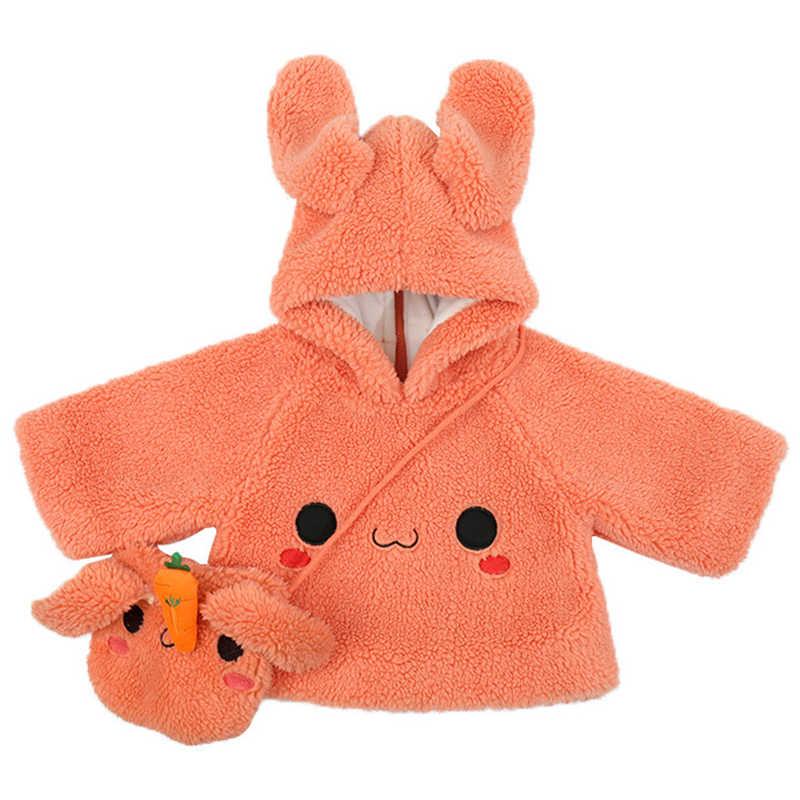 กระต่ายน่ารักกระต่าย Hoodies เด็กสาว Thicken Plush Hooded WARM Pullover เด็กหนาตุ๊กตา Outwear ฤดูใบไม้ร่วงฤดูหนาว