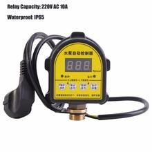 Automatische LCD Digital Wasser Pumpe Druck Control Switch IP65 Eletronic Druck Controller für Wasserpumpe 220V 10A IP466 G1/2