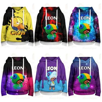 Leon and Star dziecięca dziecięca strzelanka 3d bluza z kapturem bluza chłopięca Harajuku bluza z długim rękawem płaszcz młodzieżowy tanie i dobre opinie Disney CN (pochodzenie) Damsko-męskie Nowość POLIESTER Dobrze pasuje do rozmiaru wybierz swój normalny rozmiar Wiosna i jesień