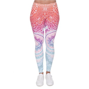 Zohra Explosion-3D Digital Aztec Series Printed Leggings Europe and America Leggings Outer Wear women's pants 1
