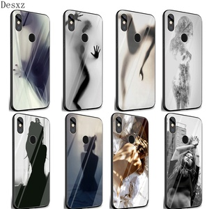 Sexy beauty Phone Glass Case For Xiaomi Note 5 6 7 Pro F1 A1 A2 4X 5X 6X 9 Cover TPU