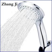 Shower-Head Water-Saver Chrome Bathroom Round Abs-Plastic Zhangji 5-Modes Big-Panel Classic-Design