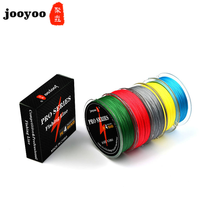 100M PE Fishing Line Multifilament Line 0.1-0.5mm 8-90 LB Japanese Material Super Strong For Carp Fishing Five Colors Jooyoo
