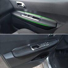 Samochód wewnętrznego drzwiowego Panel podłokietnik skóra z mikrofibry naklejka na pokrywę wykończenia dla Peugeot 3008 2011 2012