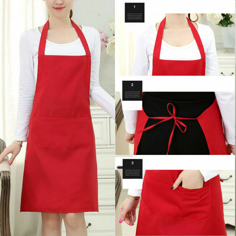 US Women Men Waterproof Kitchen Apron Chef Butcher BBQ Cooking Baking Catering  Food Service Skirt