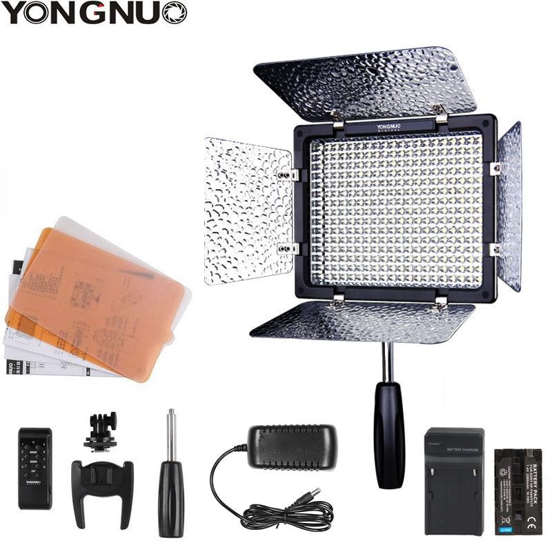 Светодиодная лампа Yongnuo YN300 III YN-300 III, подсветка для фото- и видеосъемки 3200k-5500K, с адаптером питания переменного тока + комплектом батарей (опци...
