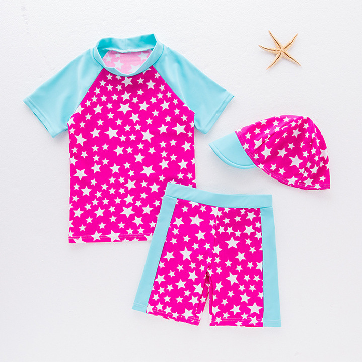 New Style Cute Girls Star Pin Se Xiu One-piece Swimming Suit