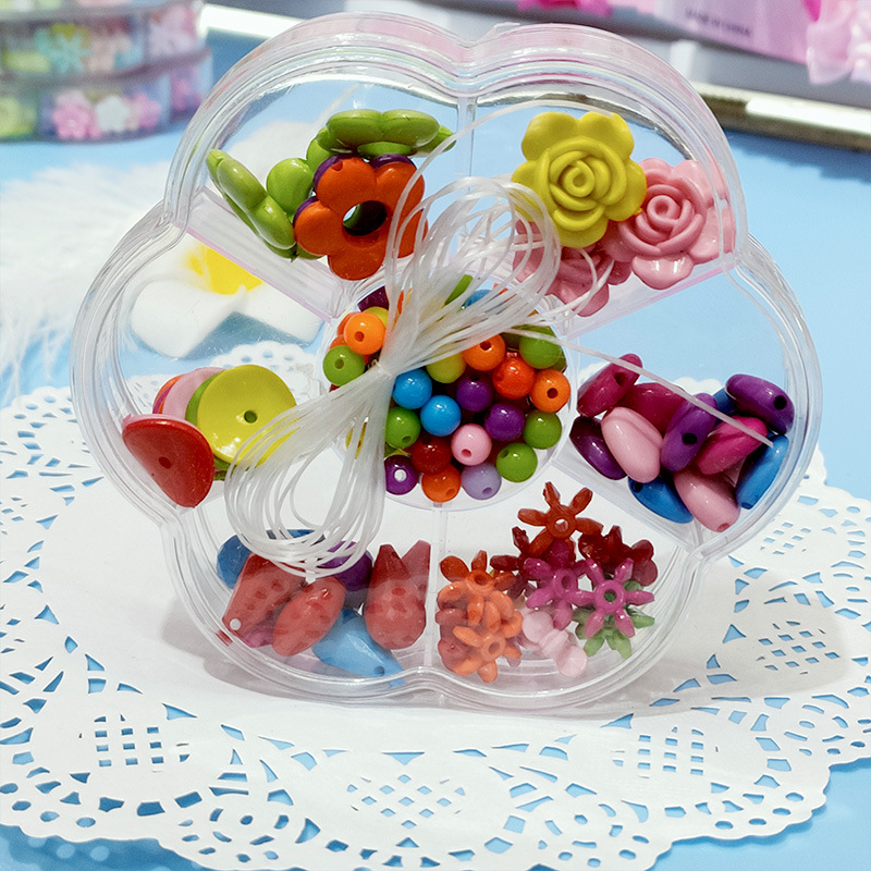 Children's Day Gift Bead Toy Educational DIY Handmade Material GIRL'S Necklace Bracelets Semi-round Beads Boxed