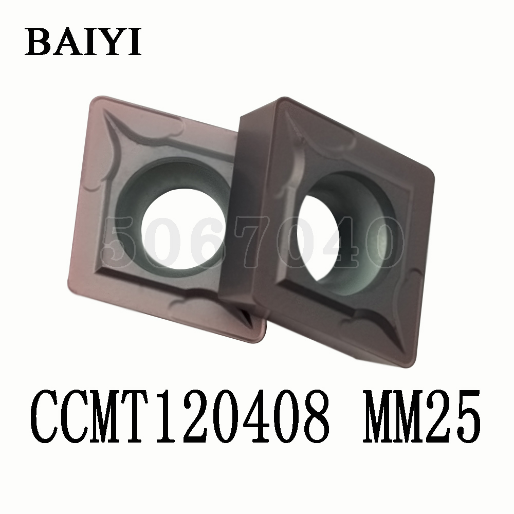CCMT120408 MM25 Carbide insert cutter external metal turning tools CNC machine turning tools accessories blade <font><b>ccmt</b></font> <font><b>120408</b></font> image