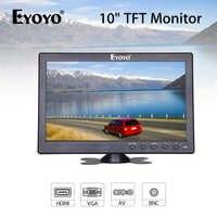 Eyoyo EM12N 10,1 1024X600 Monitor Kleine PC LCD screen TV Computer display mit BNC AV VGA HDMI eingang für CCTV Sicherheit Kamera