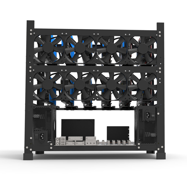 Open Mining Rig Frame for 12 GPU Mining Case Rack Motherboard Bracket ETH ETC ZEC BCH Ether Accessory Tool 3 Layers crypto miner 3
