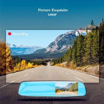 ADDKEY Full HD 1080P Car Dvr Camera Auto 4.3 Inch Rearview Mirror Dash Digital Video Recorder Dual Lens Registratory Camcorder 2