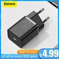 Baseus USB Typ C Ladegerät 20W Tragbare USB C Ladegerät Unterstützung Typ C PD Schnelle Lade Für iPhone 12 pro Max 11 Mini 8 Plus