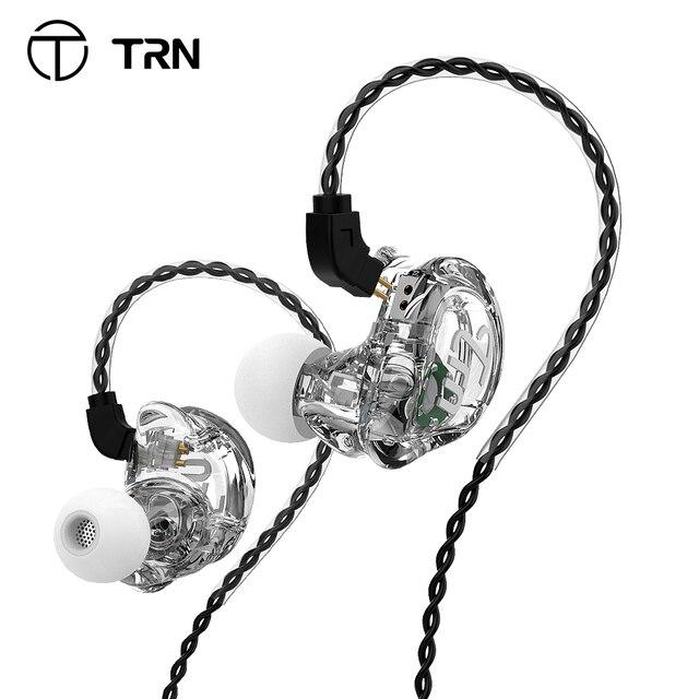 Trn V10 2DD 2BA Hoofdtelefoon Hybrid In Ear Oortelefoon Hifi Dj Monitor Running Sport Oortelefoon Headset Trn V90 V20 V80 v30 AS10 T2 Vx