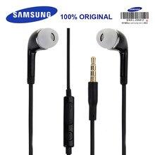 Original samsung ehs64 preto fones de ouvido 3.5mm in-ear com microfone fio fone de ouvido para o telefone android samsung galaxy s6 s8 s9 plus